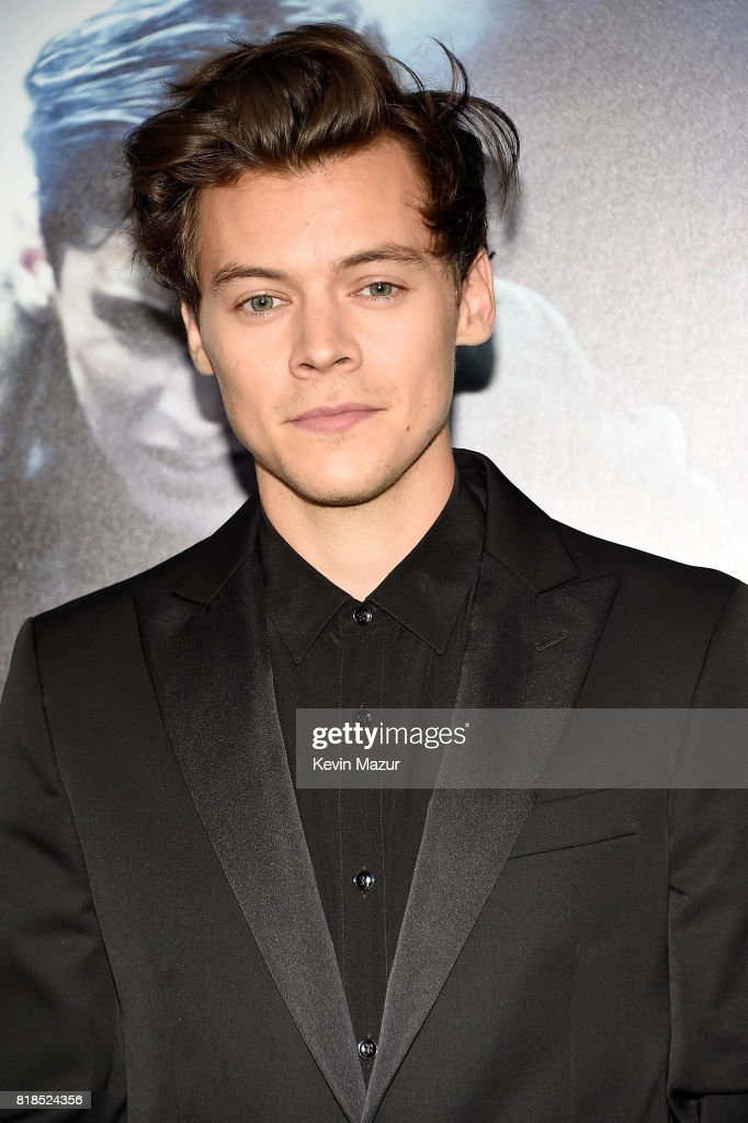 Harry Styles attends the 'DUNKIRK' premiere in New York City.