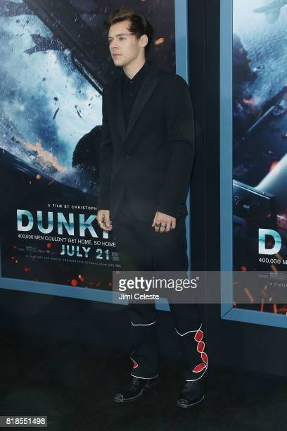 Harry Styles attends the US premiere of 'Dunkirk' at AMC Loews Lincoln Square IMAX on July 18 2017 in New York City