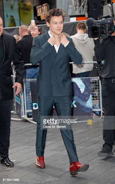 Harry Styles attends the World Premiere of 'Dunkirk' at Odeon Leicester Square on July 13 2017 in London England