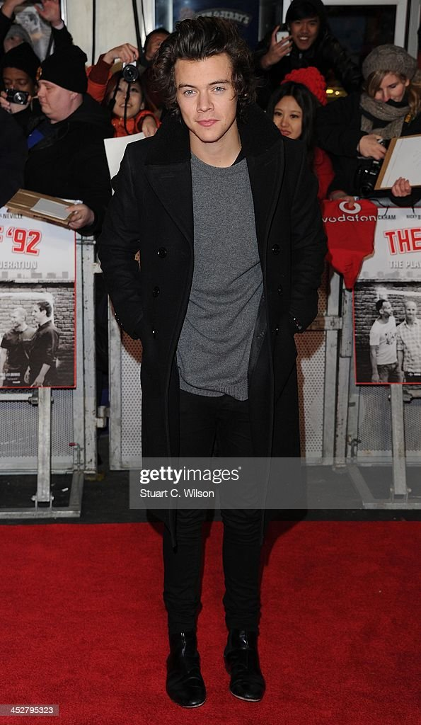 <a gi-track='captionPersonalityLinkClicked' href=/galleries/search?phrase=Harry+Styles&family=editorial&specificpeople=7229830 ng-click='$event.stopPropagation()'>Harry Styles</a> attends the World premiere of 'The Class of 92' at Odeon West End on December 1, 2013 in London, England.