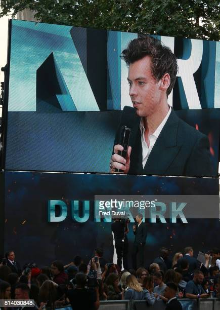 Harry Styles being interviewed at the 'Dunkirk' World Premiere at Odeon Leicester Square on July 13 2017 in London England