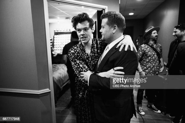 Harry Styles chat with James Corden during 'The Late Late Show with James Corden' Thursday May 18 2017 On The CBS Television Network