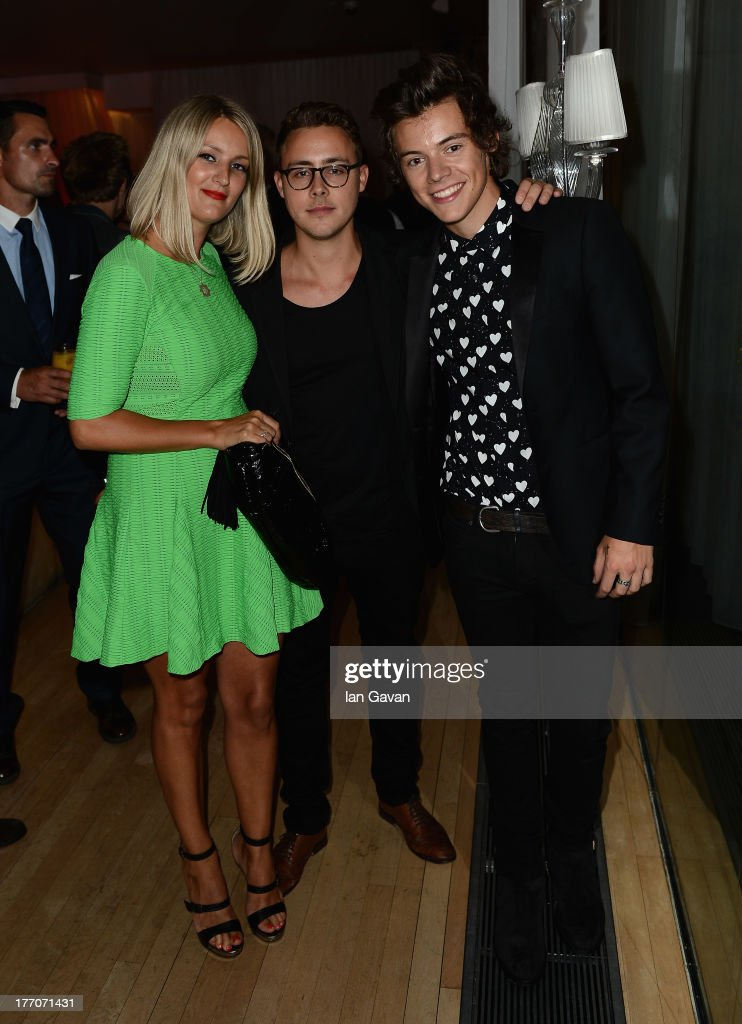 <a gi-track='captionPersonalityLinkClicked' href=/galleries/search?phrase=Harry+Styles&family=editorial&specificpeople=7229830 ng-click='$event.stopPropagation()'>Harry Styles</a> from One Direction (R) and guests attend the 'One Direction This Is Us' world premiere after party on August 20, 2013 in London, England.