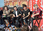 Harry Styles Liam Payne Louis Tomlinson and Niall Horan of One Direction appear on NBC's Today Show to release their new album 'Four at Universal...