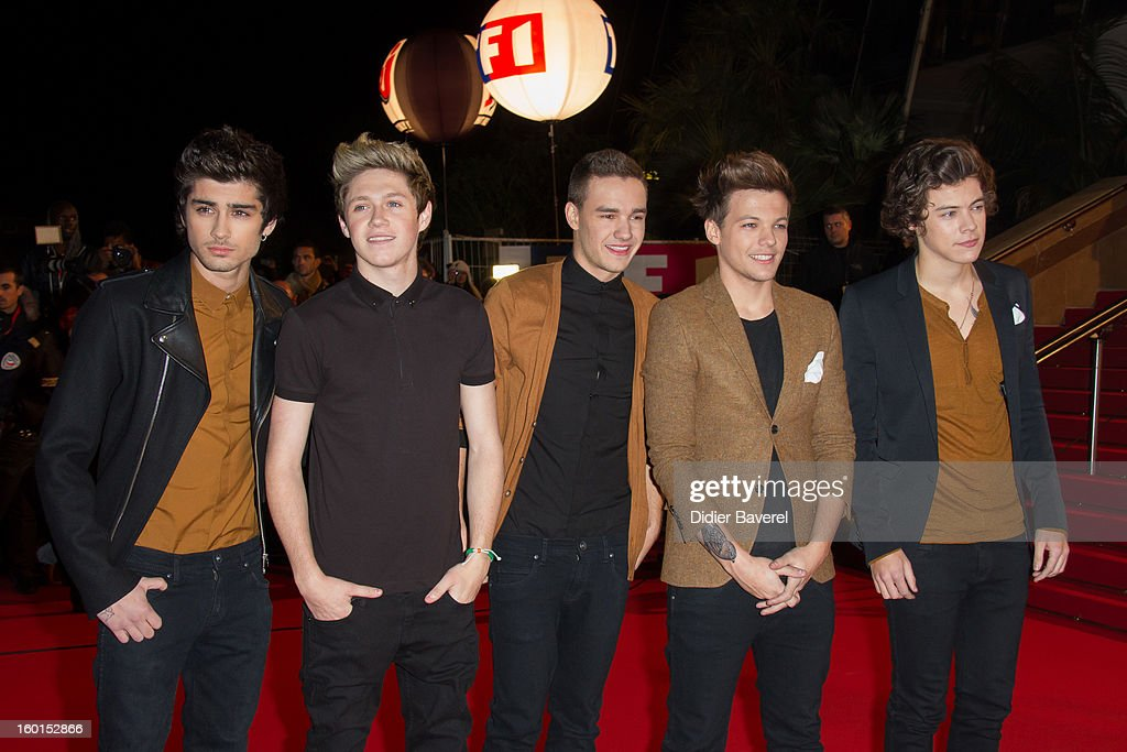 Harry Styles, Louis Tomlinson, Niall Horan, Zayn Malik and Liam Payne of One Direction attend the NRJ Music Awards 2013 at Palais des Festivals on January 26, 2013 in Cannes, France.