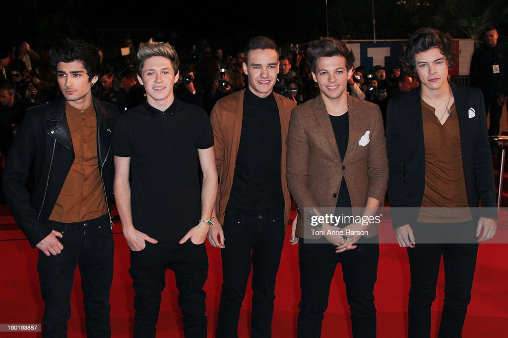 Harry Styles, Louis Tomlinson, Niall Horan, Zayn Malik and Liam Payne of 'One Direction' arrives at the NRJ Music Awards 2013 at Palais des Festivals on January 26, 2013 in Cannes, France.