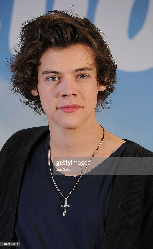 Harry Styles of One Direction attend a press conference at the Ritz Carlton Tokyo on January 18, 2013 in Tokyo, Japan.