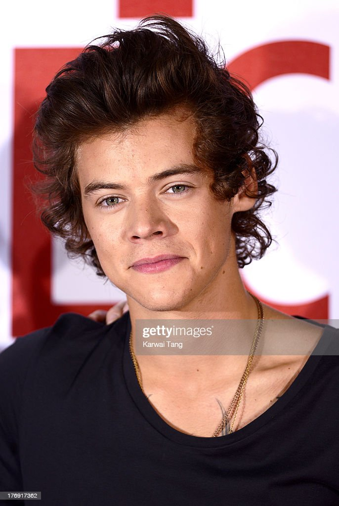 <a gi-track='captionPersonalityLinkClicked' href=/galleries/search?phrase=Harry+Styles&family=editorial&specificpeople=7229830 ng-click='$event.stopPropagation()'>Harry Styles</a> of One Direction attends a photocall to launch their new film 'One Direction: This Is Us 3D' held at the Blue Sky Studios on August 19, 2013 in London, England.