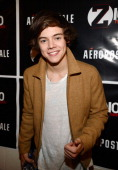 Harry Styles of One Direction attends backstage at Z100's Jingle Ball 2012 presented by Aeropostale at Madison Square Garden on December 7 2012 in...
