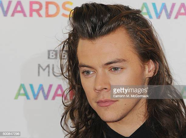 Harry Styles of One Direction attends the BBC Music Awards at Genting Arena on December 10 2015 in Birmingham England