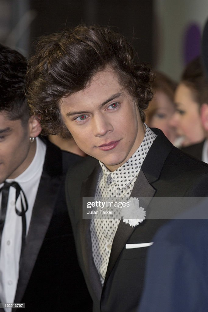 Harry Styles, of One Direction attends the Brit Awards 2013 at the 02 Arena on February 20, 2013 in London, England.