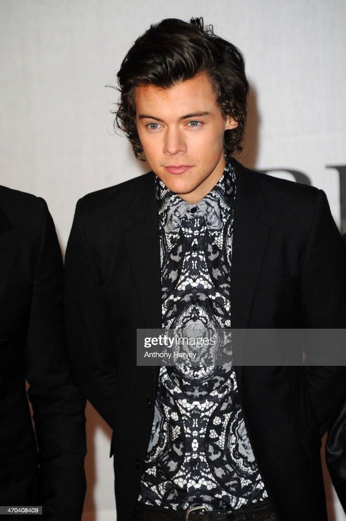 <a gi-track='captionPersonalityLinkClicked' href=/galleries/search?phrase=Harry+Styles&family=editorial&specificpeople=7229830 ng-click='$event.stopPropagation()'>Harry Styles</a> of One Direction attends The BRIT Awards 2014 at 02 Arena on February 19, 2014 in London, England.