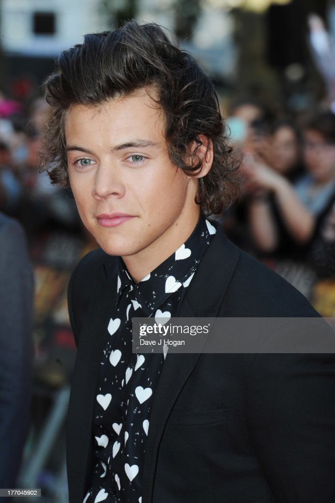 <a gi-track='captionPersonalityLinkClicked' href=/galleries/search?phrase=Harry+Styles&family=editorial&specificpeople=7229830 ng-click='$event.stopPropagation()'>Harry Styles</a> of One Direction attends the world premiere of 'One Direction - This Is Us' at The Empire Leicester Square on August 20, 2013 in London, England.
