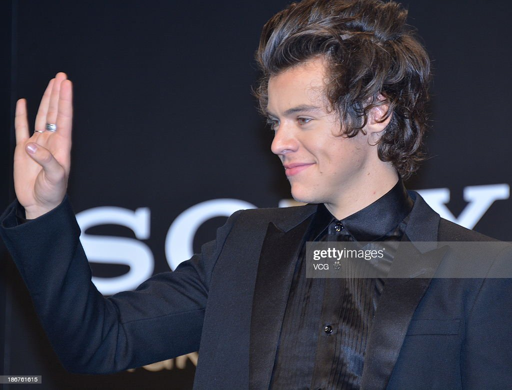 Harry Styles of One Direction meets Japanese fans to promote 'The 1Derland: THIS IS US' on November 3, 2013 in Chiba, Japan.