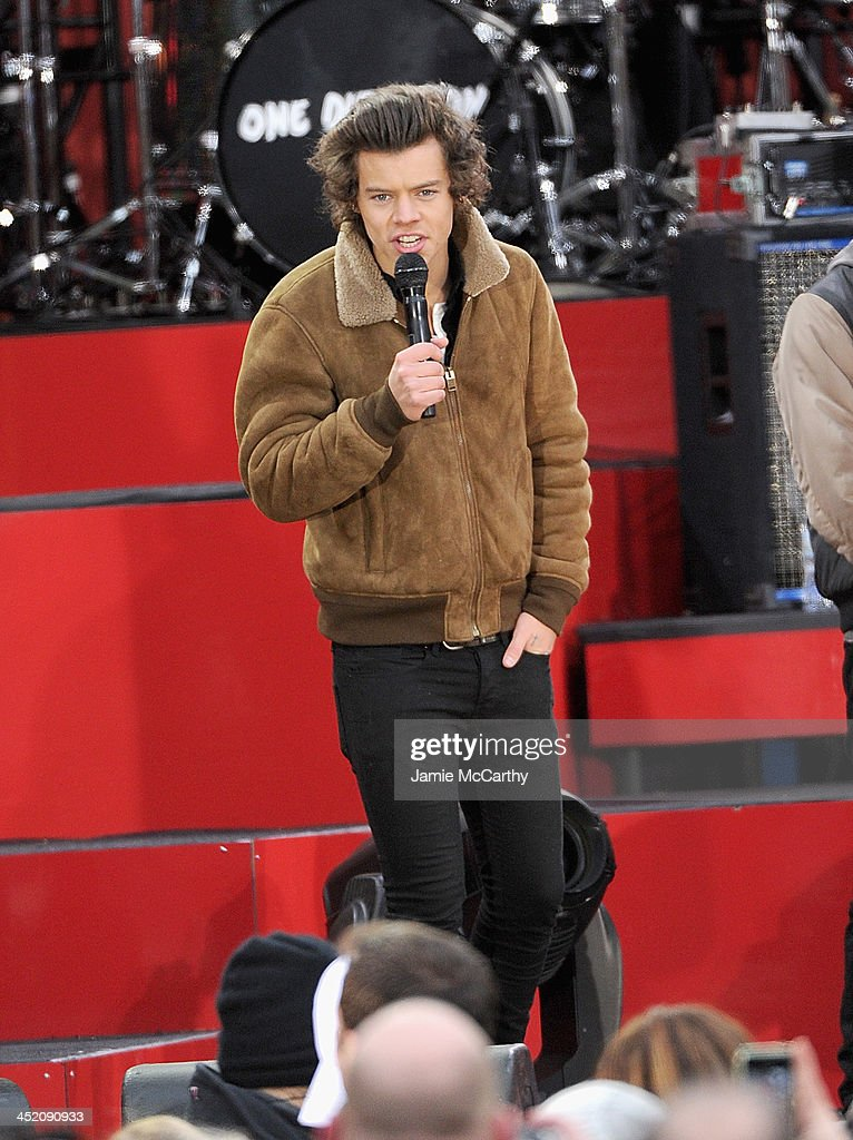 Harry Styles of One Direction performs at Rumsey Playfield on November 26, 2013 in New York City.