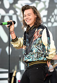 Harry Styles of One Direction performs during ABC's 'Good Morning America' at Rumsey Playfield Central Park on August 4 2015 in New York City