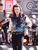 Harry Styles of One Direction performs on ABC's 'Good Morning America' at Rumsey Playfield Central Park on August 4 2015 in New York City