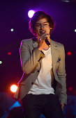 Harry Styles of One Direction performs onstage during Z100's Jingle Ball 2012 presented by Aeropostale at Madison Square Garden on December 7 2012 in...