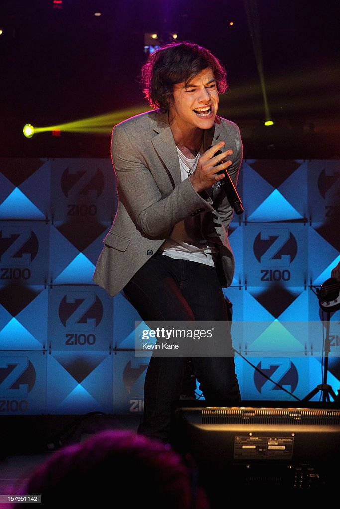 Harry Styles of One Direction performs onstage during Z100's Jingle Ball 2012, presented by Aeropostale, at Madison Square Garden on December 7, 2012 in New York City.