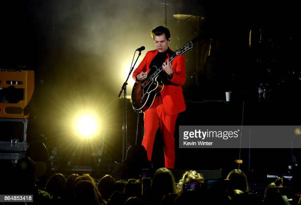 Harry Styles performs onstage at CBS RADIO's We Can Survive 2017 at The Hollywood Bowl on October 21 2017 in Los Angeles California