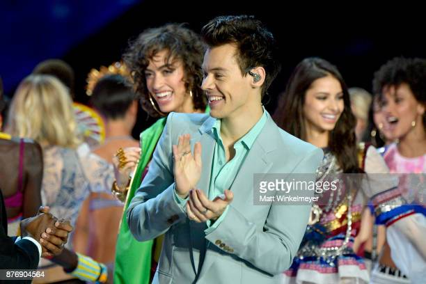 Harry Styles performs the runway during the 2017 Victoria's Secret Fashion Show In Shanghai at MercedesBenz Arena on November 20 2017 in Shanghai...
