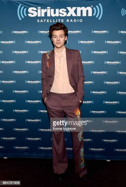 Harry Styles poses for SiriusXM from The Roxy Theatre on May 17 2017 in West Hollywood California