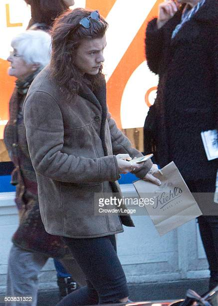 Harry Styles sighting on January 6 2016 in London England