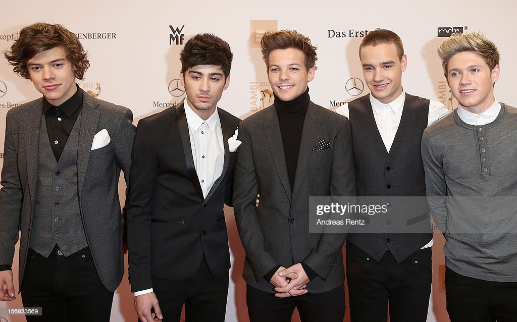 Harry Styles, Zayn Malik, Louis Thompson, Liam Payne and Niall Horan attend the 'BAMBI Awards 2012' at the Stadthalle Duesseldorf on November 22, 2012 in Duesseldorf, Germany.