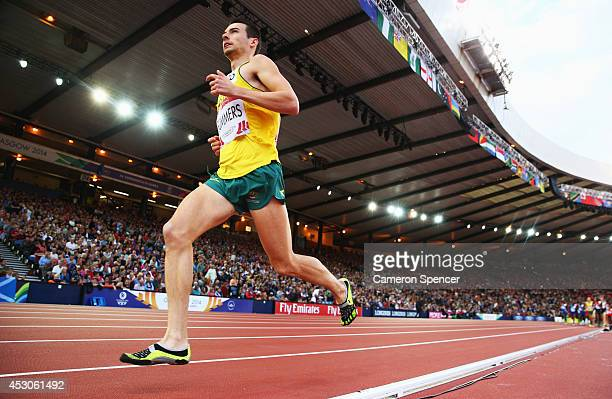 Harry Summers of Australia competes in the Men's 10000 metres final at Hampden Park during day nine of the Glasgow 2014 Commonwealth Games on August...