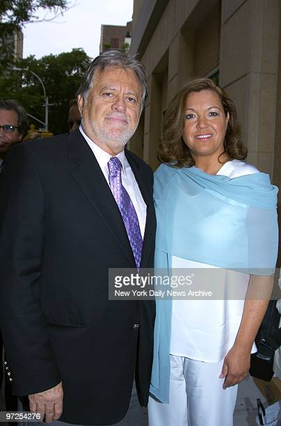 Harry Thomason and Susan McDougal get together before a screening of the documentary film 'The Hunting of the President' at New York University He...