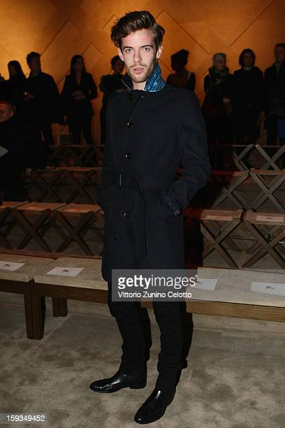 Harry Treadaway attends the Burberry Prorsum show as part of Milan Fashion Week Menswear Autumn/Winter 2013 on January 12 2013 in Milan Italy