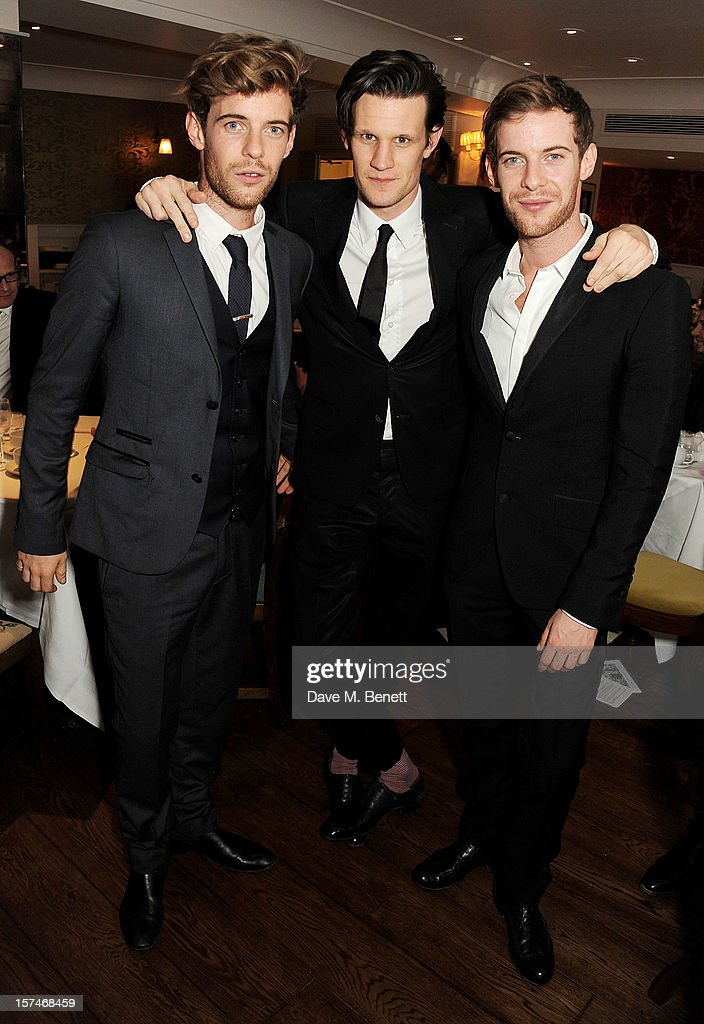 Harry Treadaway Matt Smith and Luke Treadaway attend the National Youth Theatre's 'A Shepherd's Delight' fundraising dinner hosted by Matt Smith at...