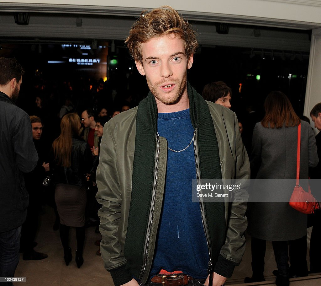 Harry Treadaway, wearing Burberry, attend the Burberry Live at 121 Regent Street event on January 31, 2013 in London, England.