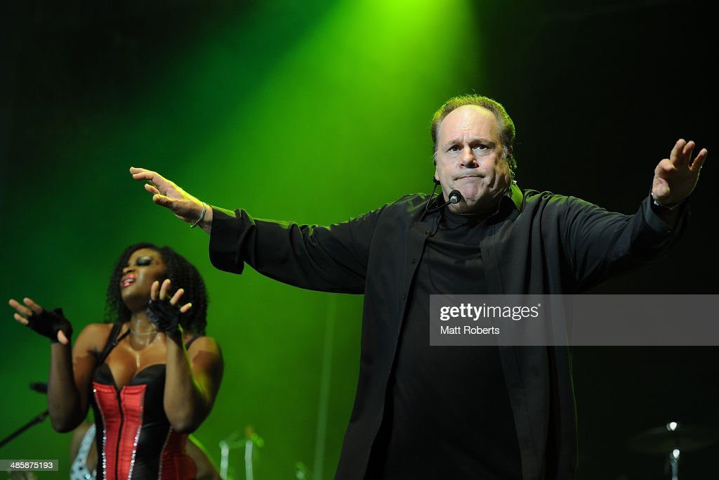 <a gi-track='captionPersonalityLinkClicked' href=/galleries/search?phrase=Harry+Wayne+Casey&family=editorial&specificpeople=227394 ng-click='$event.stopPropagation()'>Harry Wayne Casey</a> of KC and The Sunshine Band performs live for fans at the 2014 Byron Bay Bluesfest on April 21, 2014 in Byron Bay, Australia.