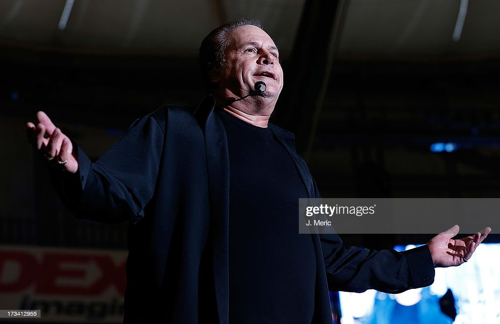 Harry Wayne Casey of KC and the Sunshine Band performs Saturday night during the Rays Summer Concert Series at Tropicana Field on July 13, 2013 in St Petersburg, Florida.