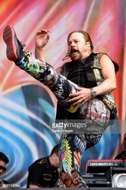 Harry Wayne Casey of KC The Sunshine Band performs on stage at the Barclaycard Presents British Summer Time Festival in Hyde Park on June 30 2017 in...
