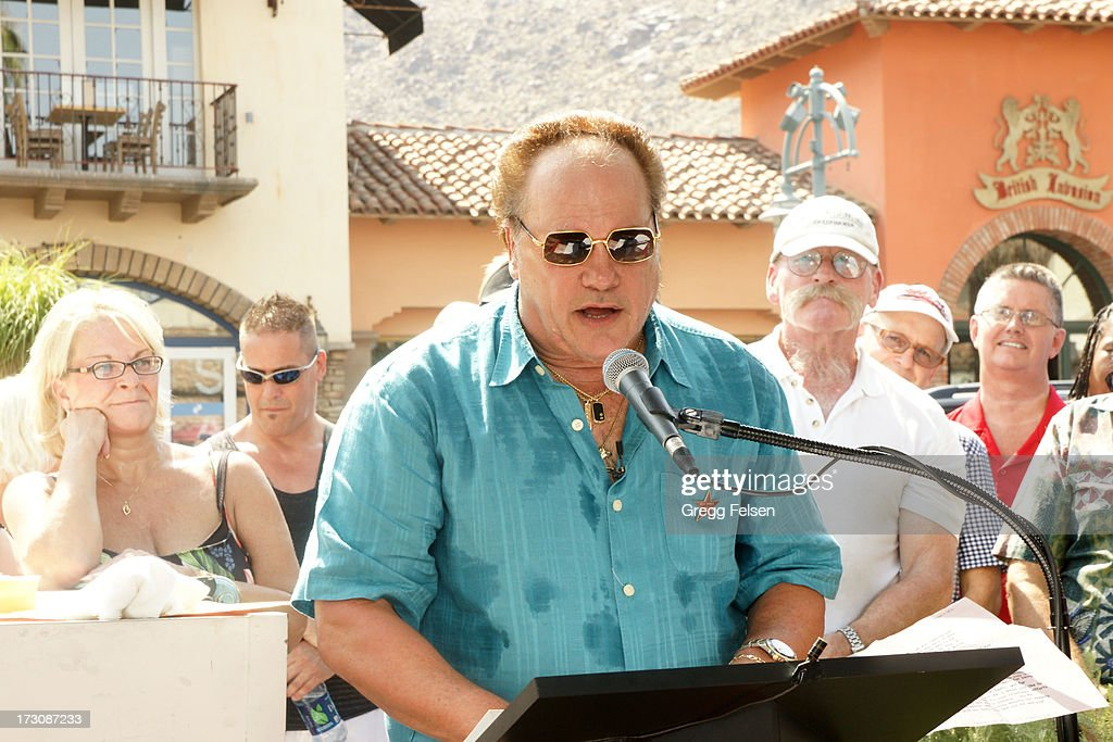Harry Wayne 'KC' Casey attends Palm Springs 'Walk of Stars' ceremony for KC And The Sunshine Band on July 6, 2013 in Palm Springs, California.