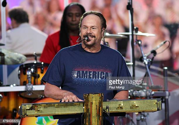 Harry Wayne 'KC' Casey performs with KC and The Sunshine Band at A Capitol Fourth 2015 Independence Day Concert dress rehearsals on July 3 2015 in...
