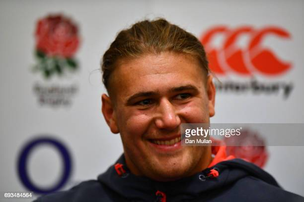 Harry Williams of England speaks to the media during a press conference at Emperdor Hotel on June 7 2017 in Buenos Aires Distrito Federal