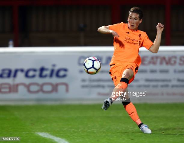 Harry Wilson of Liverpool celebrates the first goal during Premier League 2 Division 1 match between West Ham United Under 23s and Liverpool Under...