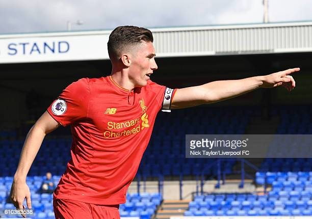 Harry Wilson of Liverpool during the Premier League 2 match between Liverpool and Sunderland on September 25 2016 in Birkenhead England