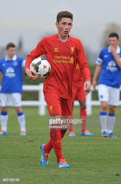 Harry Wilson of Liverpool in action during the Barclays Premier League Under 18 fixture between Everton and Liverpool at Everton's Finch Farm...