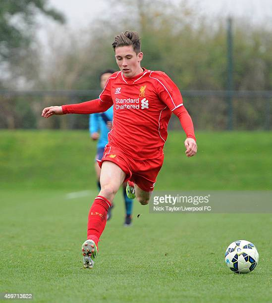 Harry Wilson of Liverpool in action during the Barclays Premier League Under 18 fixture between Liverpool and Stoke City at the Liverpool FC Academy...