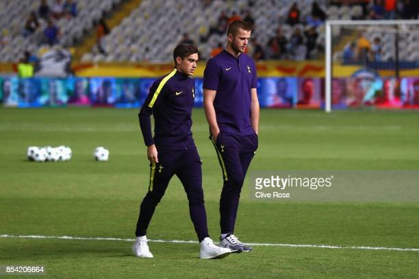 Harry Winks and Eric Dier of Tottenham Hotspur walk on the ptich prior to the UEFA Champions League Group H match between Apoel Nicosia and Tottenham...