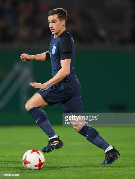 Harry Winks of England controls the ball during the U21 International Friendly match between U21 Germany and U21 England at BRITAArena on March 24...