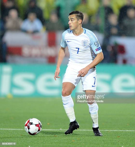 Harry Winks of England in action during the FIFA 2018 World Cup qualifier between Lithuania and England on October 8 2017 in Vilnius Lithuania