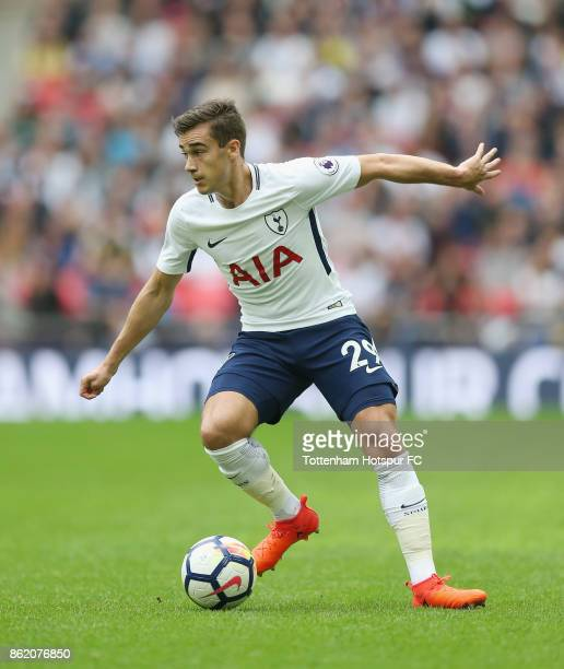 Harry Winks of Tottenham during the Premier League match between Tottenham Hotspur and AFC Bournemouth at Wembley Stadium on October 14 2017 in...