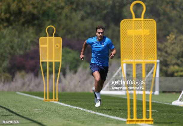 Harry Winks of Tottenham during the Tottenham Hotspur training session at Tottenham Hotspur Training Centre on July 5 2017 in Enfield England