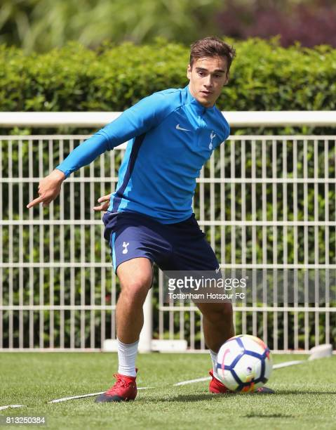 Harry Winks of Tottenham during the Tottenham Hotspur training session at Tottenham Hotspur Training Centre on July 12 2017 in Enfield England