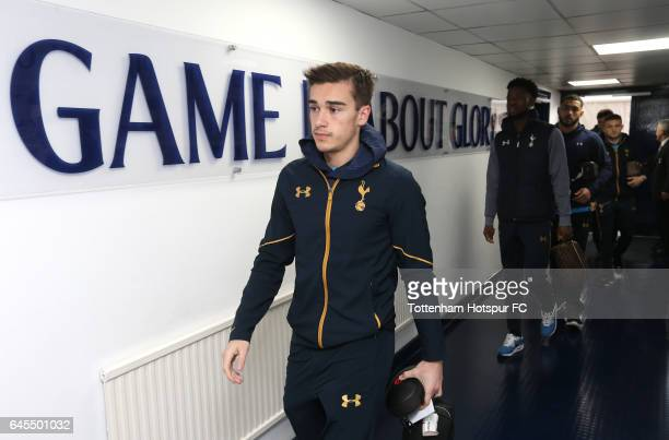 Harry Winks of Tottenham Hotspur arrives at the stadium prior to the Premier League match between Tottenham Hotspur and Stoke City at White Hart Lane...